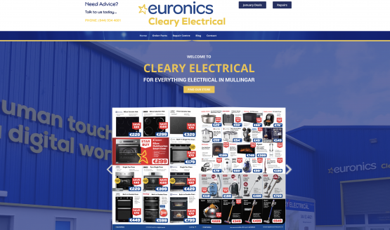 Claery Electrical Website Design Mullingar