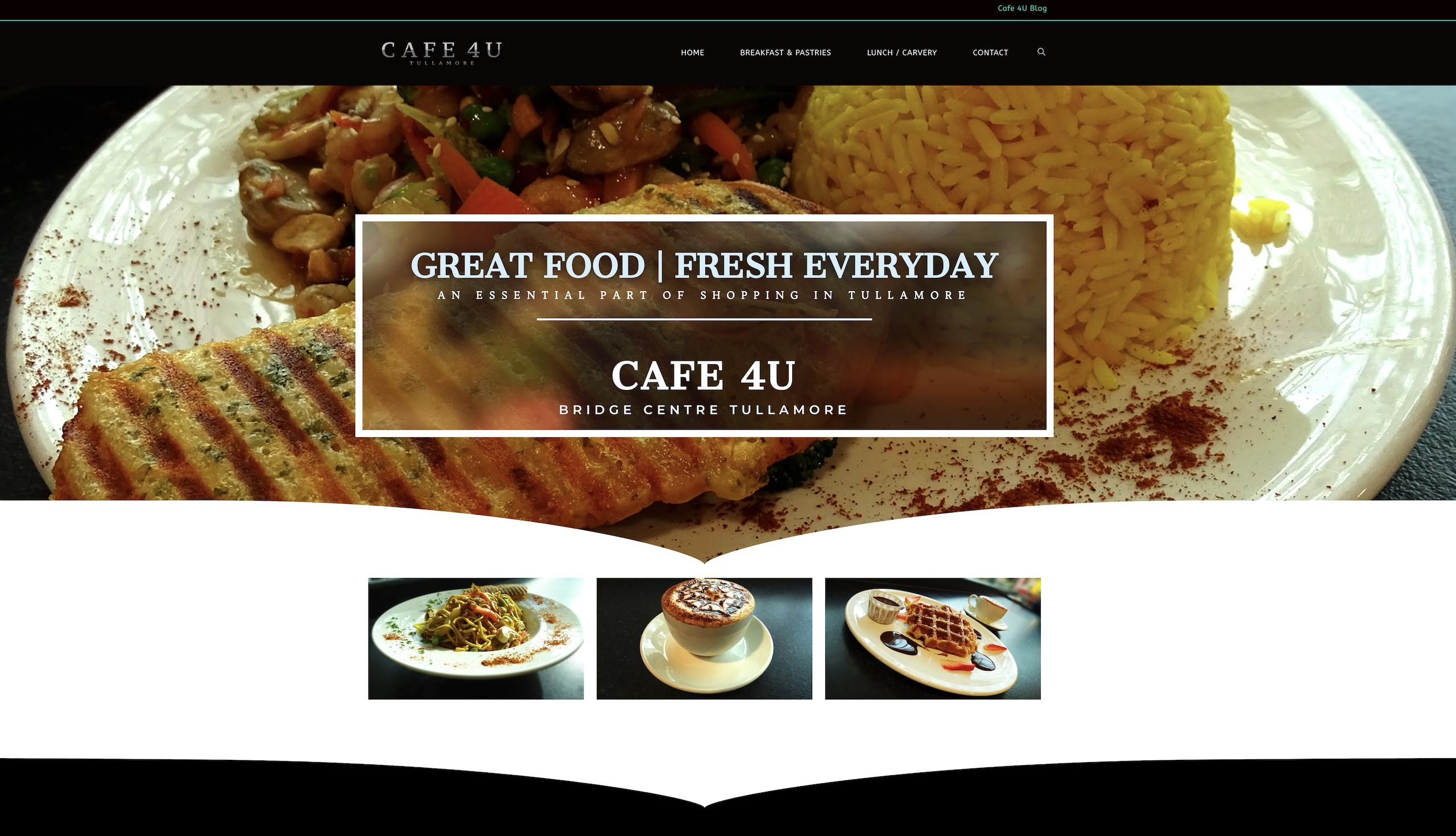 Cafe 4U Tullamore Website Design